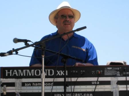 Jon Hammond Trio performing at the annual fundraiser for California HIstorical Radio Society at Radio KRE in Berkeley CA